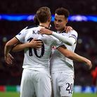 Harry Kane (left) and Dele Alli were both on target for Tottenham in their victory at Wembley Stadiu