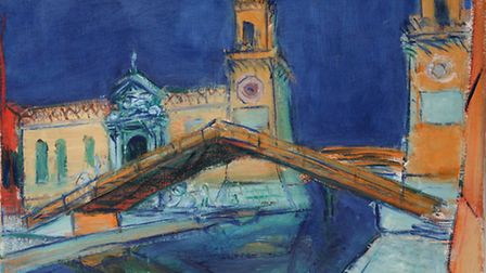 This painting of the Venice Arsenal by Ceri Richards was stolen from Sylvester Fine Arts, in Belsize