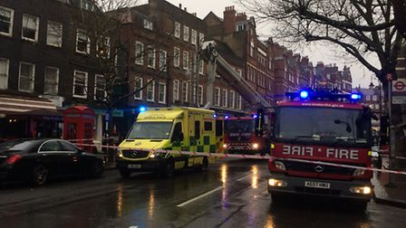 Traffic blocked off in Hampstead High Street Picture; Tim Goss