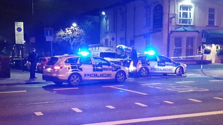 Seven Sisters Road and Portland Rise were taped off. Picture: @ShulemStern