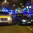 The crashed car in Seven Sisters Road. Picture: @ShulemStern