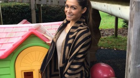 Model and television personality Casey Batchelor pictured at Haven House.