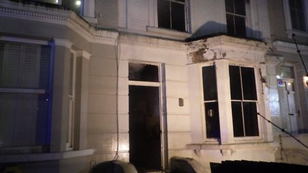 The scene at the home in Chalk Farm Picture: LFB