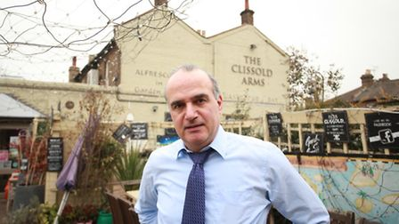 George Karageorgis, owner of the Clissold Arms