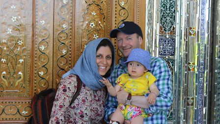 Nazanin, Richard and daughter Gabriella on holiday together in Shiraz before the arrest