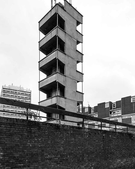 Shoreditch Fire Station. Picture: Simon Phipps / Extracted from Brutal London by Simon Phipps.