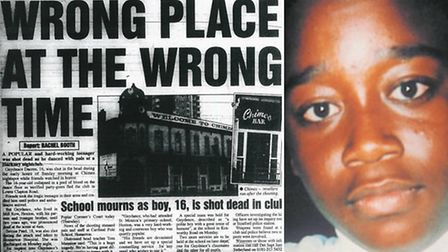 Guydance Dacres, right, was shot dead in Chimes nightclub in January 1997.
