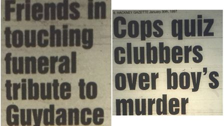 How the Gazette covered the murder.