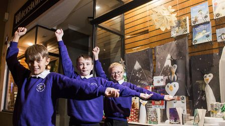 Mikey Knights, William Day and Kyle Mills from Northfield St. Nicholas Primary Academy helped design