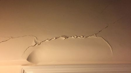 One of the cracks which has developed in Mr Daines' home