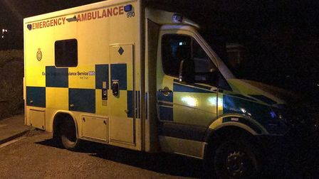 The emergency services were called out after reports two people were trapped when part of the floor
