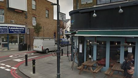 The robbery happened at the junction of Stoke Newington High Street and Tyssen Road. Picture: Google