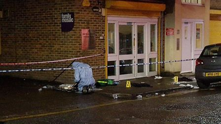 """The scene of the second stabbing in Arcola Street. """"This recent spate of stabbings in #Hackney is se"""
