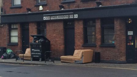 Furniture was removed from the function room before The Lion closed. Picture: Amir Dotan
