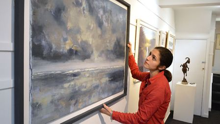 Artsist and gallery owner Hannah Ivory Baker at Highgate Contemporary Art Gallery. Picture: Polly Ha