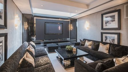 The new tenents can relax in front of the latest films on the plush sofas of the home cinema