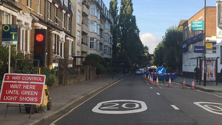 The roadworks in Mansfield Road last year Picture: Emily Banks