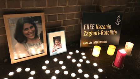Amnesty International lit candles and called for Nazanin 's release, marking the 288 days she has be