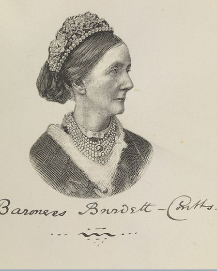 Angela Burdett-Coutts (1814-1906), provider of funds for charitable purposes including schools, chur