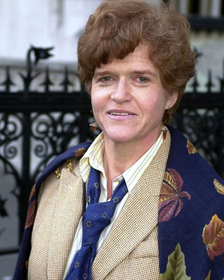 Professor Deborah Lipstadt, in front of the High Court, fighting the legal action by discredited his