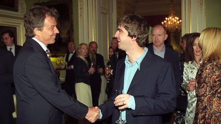 Celebrities were once welcome at No 10, as when former PM Tony Blair met Oasis star Noel Gallagher i