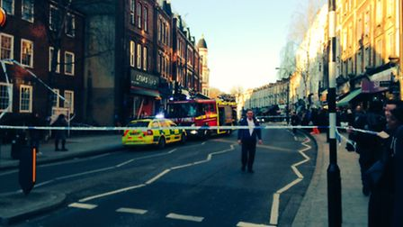 The scene in West End Lane Picture: Cllr Phil Rosenberg