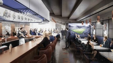 The Tunnel Club, where images of the members of Spurs' starting line-up will appear on the wall and