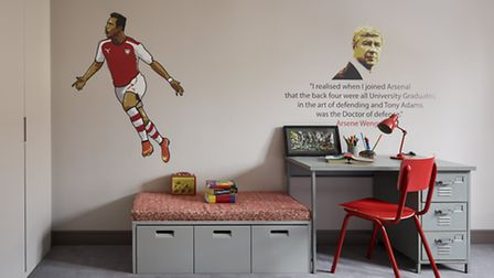 The boy's had a big input in designing their bedrooms around their favourite thing - Arsenal