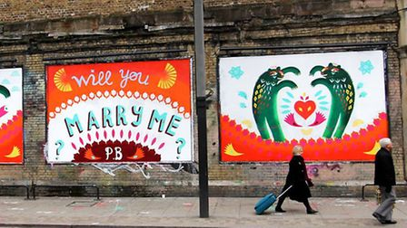 The wall has featured its fair share of marriage proposals