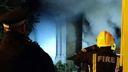 58 firefighters tackled the blaze in Evering Road. Picture: Nigel Whitfield.