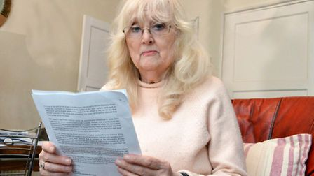 Jane Frost with her letter from the council (Picture: Polly Hancock)