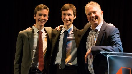 Harry and Jack Adams won the science award. Picture: James Battershill