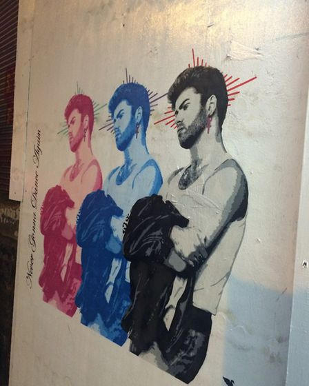 The street art tribute to George Michael in Shoreditch (Photo: Emma Bartholomew)
