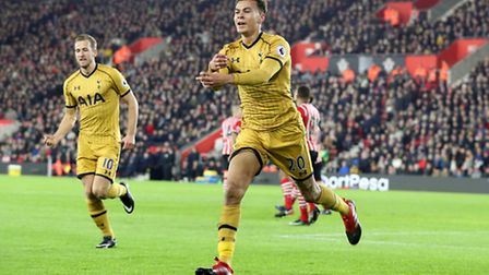Dele Alli (right) scored twice against Southampton on Wednesday, taking his tally to 16 goals in his