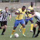 Christopher Benjamin came off the bench to score Haringey Borough's sixth and final goal. Picture: T