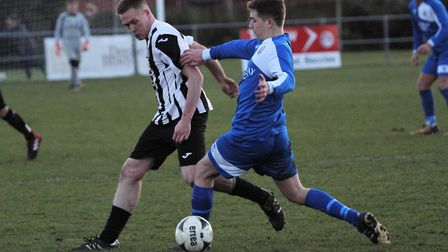 Midfield action from Saturday's game at Walmer Road. Picture: Bryan Grint