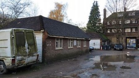 """The Bute Mews garages which attract """"nefarious activity"""", photo from planning application"""