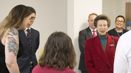 Princess Anne spoke to University of London students in their plush new halls