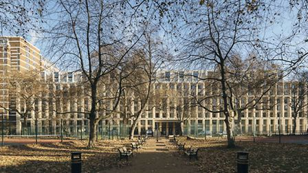 The Cartwright Gardens, funded by private initative the University Partnerships Programme. Photo: Ti
