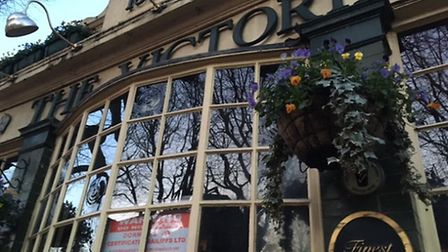 The Victoria pub, once popular, has now bailiffs orders over its windows