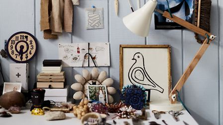 A wall used for a rotating collection of art and objects in a home: PA Photo/Debi Treloar