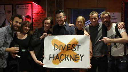 Divest Hackney says the council still has not done enough. Picture: Divest Hackney