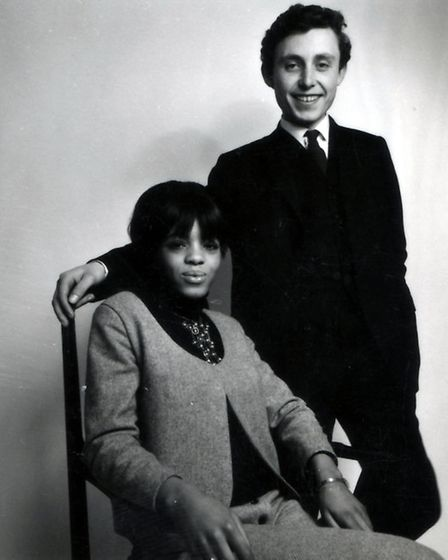 Margaret Busby with Clive Allison in 1967