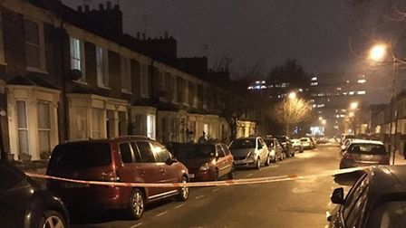 The man was stabbed in Harrowgate Road, Homerton. Picture: @HackneyMPS