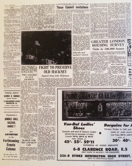 "The Gazette published on January 17 1967 - the article ""Fight to Preserve Old Hackney"" (Photo: Hackn"