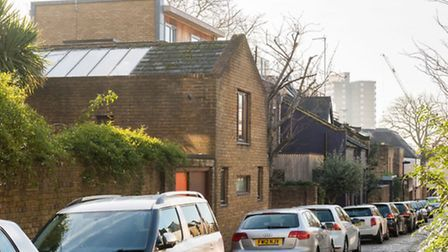 """The 1980s house is on Murray Mews, NW1, which has been described by architecture enthusiasts as a """"c"""
