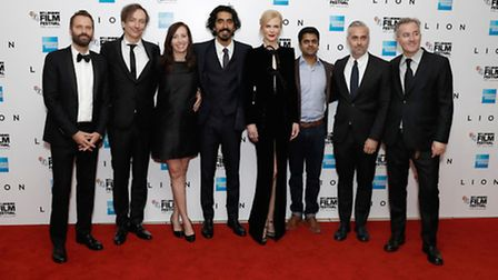Cast and crew of Lion at BFI London Film Festival. Picture: John Phillips/Getty Images
