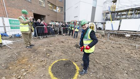 Sir Tony Robinson picks up a shovel for the Royal Central School of Speech and Drama's ground-breaki
