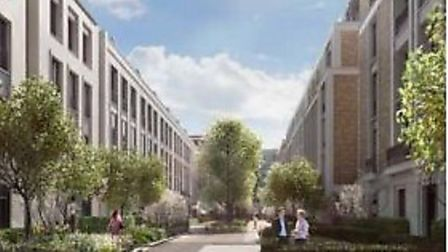 Image from the proposed development of St John's Wood Barracks