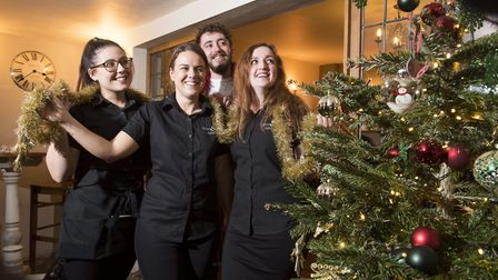 Carlton Colville is the region's most Christmas obsessed place. Staff at the Bell Inn in festive spi